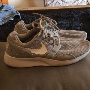 Gray Nike shoes